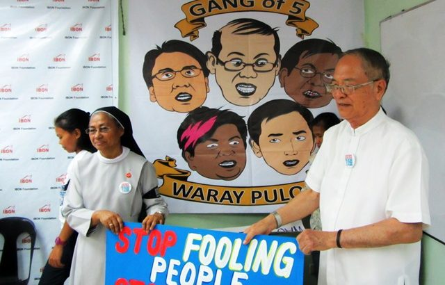Yolanda survivors set a week of protest vs Aquino-led 'Gang of 5'