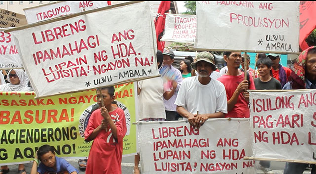 Luisita farmers hold vigil to stop destruction of farms, huts