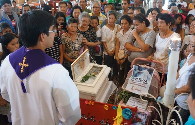 Andrea Rosal's baby daughter laid to rest