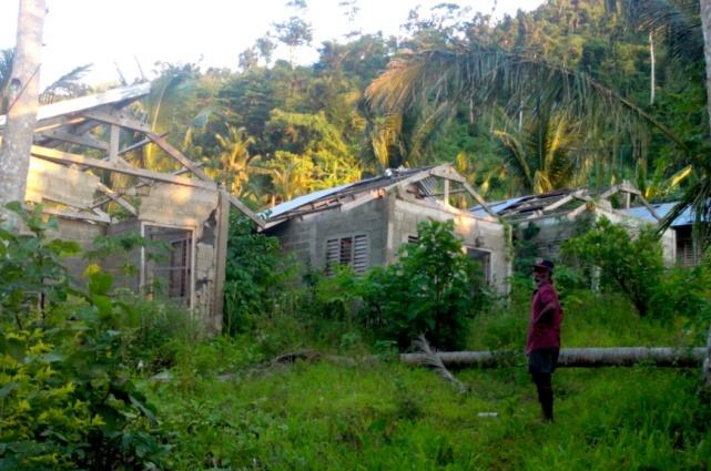 Relocation site sa loob ng kagubatan para sa mga katutubong Dumagat at Agta (Photo courtesy of C. Bautista / Bulatlat.com)