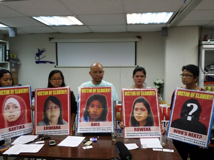 Migrant rights advocates in Hong Kong call for justice for abused Filipino domestic helper (Photo courtesy of Migrante International / Bulatlat.com)