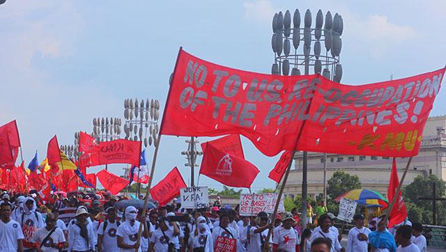 On Labor Day, Filipino workers slam 'Aquino's treachery'