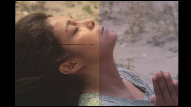 "Left side of this photo screengrab from ""Himala"" is the original version, right side is the restored version. ""Himala"" was initially released for Metro Film Festival in 1982. An iconic  movie for Nora Aunor, it continues to win awards and acclaim. In 2008, the film won the Viewer's Choice Award for Best Asia-Pacific Film of All Time in the CNN Asia Pacific Screen Awards. (Photo from ABS-CBN Social Media Newsroom)"