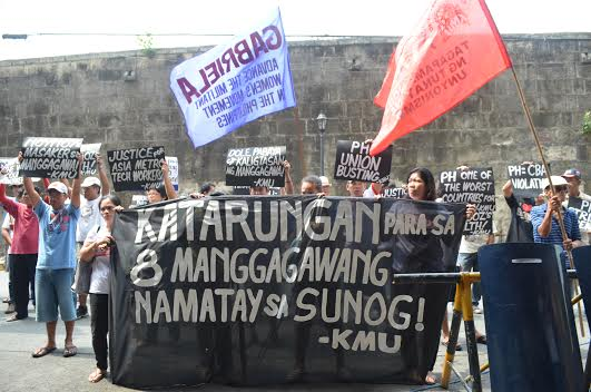 (Photo courtesy of Kilusang Mayo Uno/ Bulatlat.com)