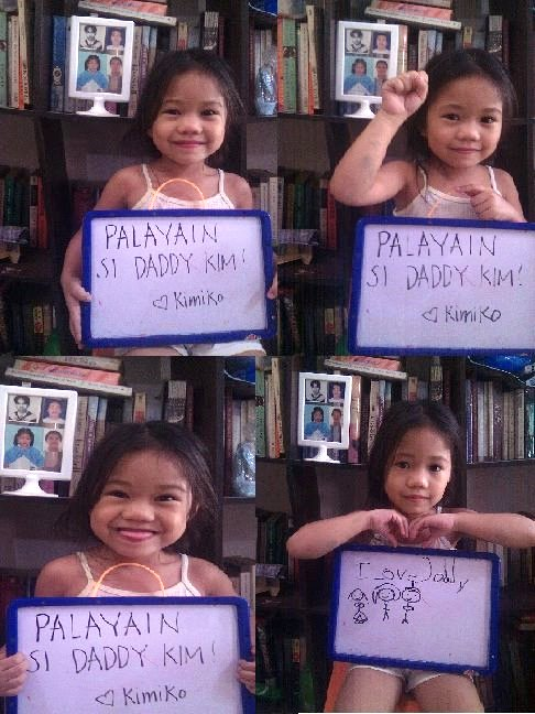 Kim Gargar's daughter starts school far from a father who loves teaching. (Screengrab from FB of friends of Kim Gargar)