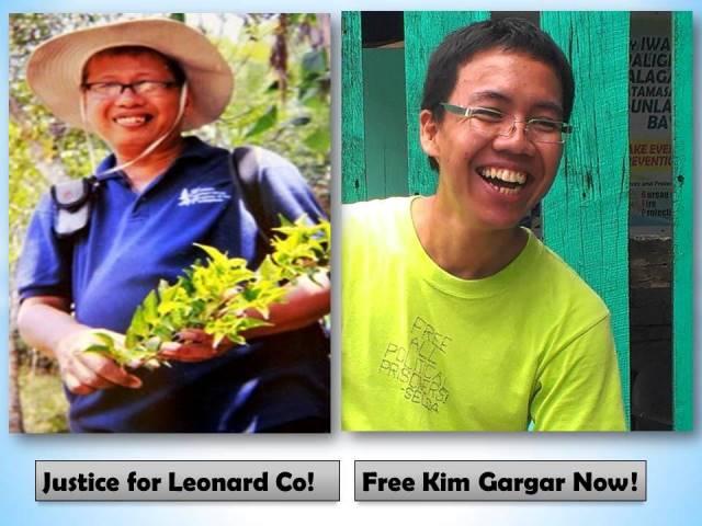 Botanist Leonard Co at Prof. Kim Gargar, ilan sa mahuhusay na siyentistang biktima ng paglabag ng karapatang pantao sa panahon ni BS Aquino. (Larawang kuha ng AGHAM / Bulatlat.com)