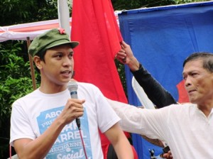 Anakbayan's Vencer Crisostomo: Aquino sellout worse than that of his idol Aguinaldo.