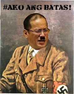 President Aquino as depicted by KMU Southern Mindanao (Screengrab from KMU-SMR Facebook post)