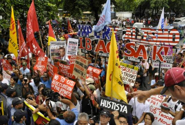 Activists mark 'sham Fil-American Friendship Day' with call for Aquino's ouster