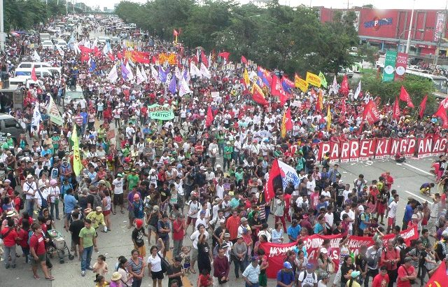 SONA | Thousands march to call for Aquino ouster