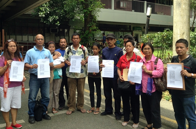 Leaders of progressive groups file complaint against police for violent dispersal last SONA rally (Photo by J. Ellao / Bulatlat.com)