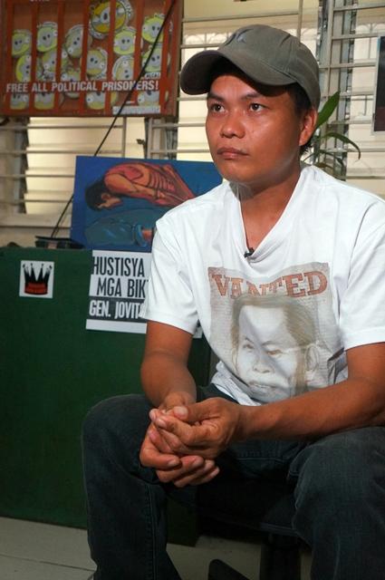 Raymond Manalo demands speedy prosecution of Palparan. (Photo by J. Ellao / Bulatlat.com)