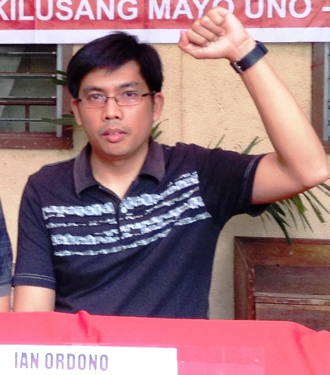 Ian Ordoño of Kasama sa Hoya Glass Disk - Ind. (Bulatlat File Photo June 2014)