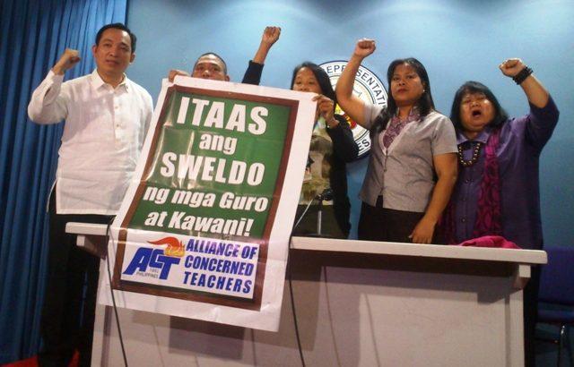 Public school teachers press gov't for wage hike
