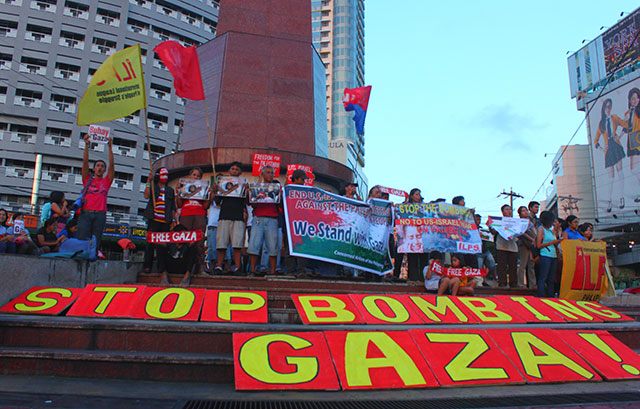 Filipinos join call to stop US-backed Israeli attacks on Gaza