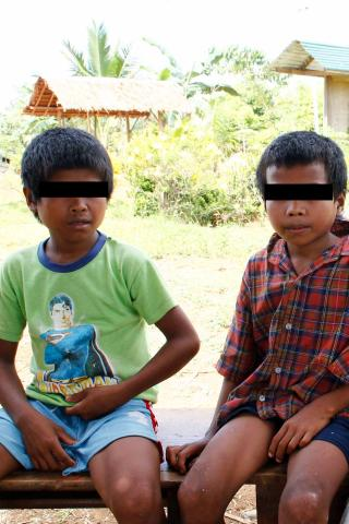 The two students who were among the five Lumads who were fired at by military.  (Photo courtesy of RMP-NMR)