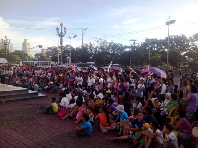 Women from different cities in Metro Manila gathered at Women Rising Against Corruption at Mehan Garden in Manila