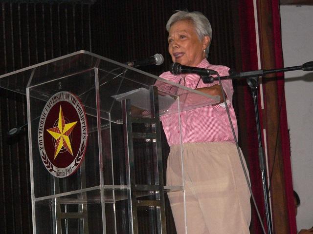 Former Senator Leticia Ramos-Shahani (Photo by Dee Ayroso / Bulatlat.com)