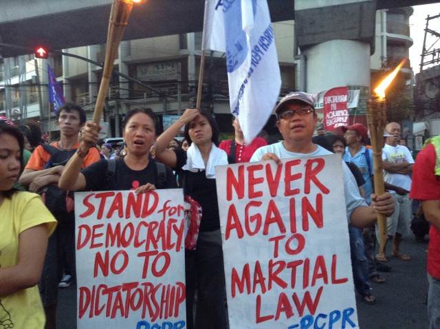 BULATLAT FILE PHOTO Aquino is doing a Marcos, says activists. (Photo by J. Ellao / Bulatlat.com)