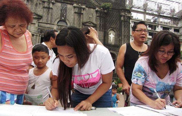 Signatories from all walks of life join People's Initiative vs Pork in Metro Manila