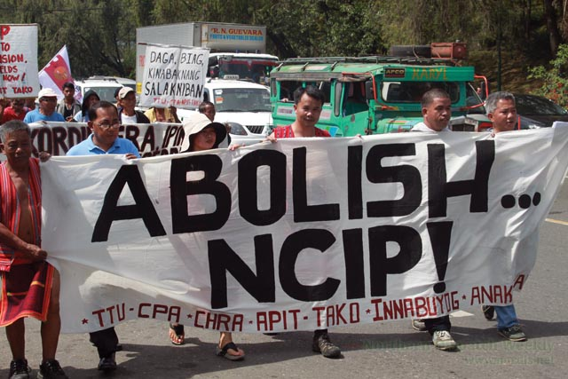 Over 500 indigenous people of the Cordillera march against continuing national oppression and plunder of their territories. (Photo by Aldwin Quitasol/ nordis.net)