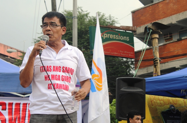 """""""Teachers would be much happier and we would feel that we are really being taken cared of if government heeds the teachers' call for a salary increase,"""" Benjie Valbuena, president of the Alliance of Concerned Teachers."""