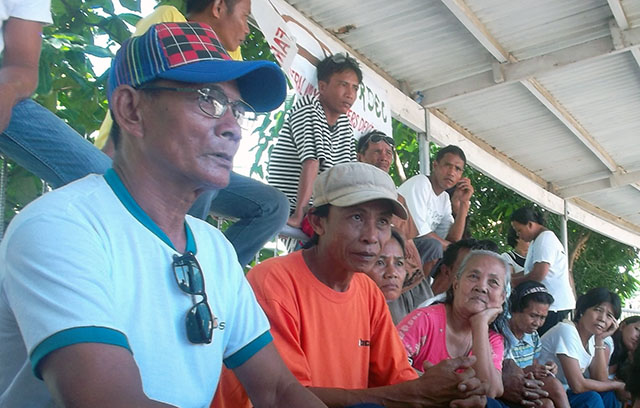 Germihildo Sanoy (second to the left) attends the NFSW provincial-wide consultation. (FARDEC file photo)