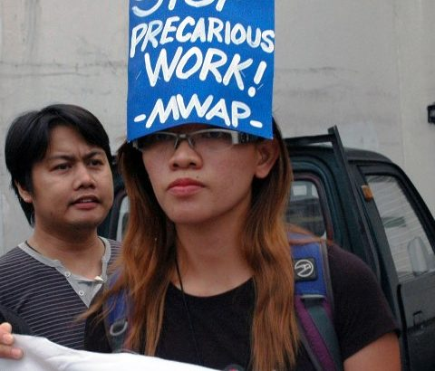 Workers seek to end 'endo' as they mark World Day for Decent Work