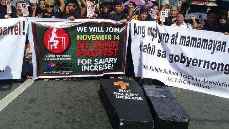 Teachers set sit-down strike for higher pay on Nov. 14