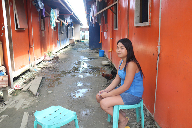 Raquel Meniable, 28, talks about being relocated yet again. (Photo by Max Santiago)