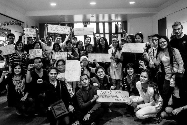 FWDA members continue to campaign on issues affecting migrants in the UK and the Philippines. (Photo by Clemente Bautista / Bulatlat.com)