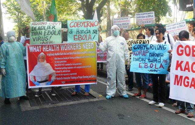 PH health workers join global protest on lack of awareness vs Ebola