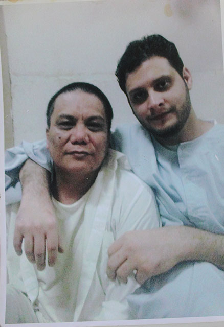 Edison Gonzales (left) inside the Saudi prison. (Photo courtesy of the Gonzales family)