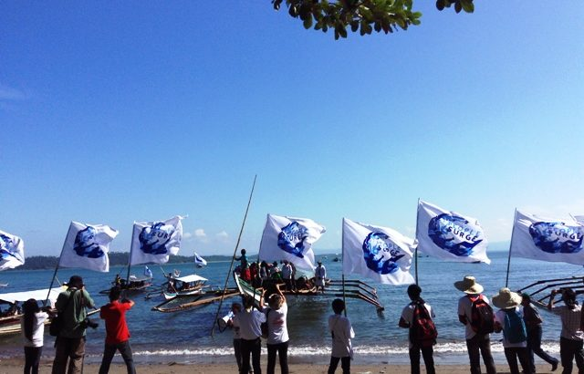 Fluvial protest, student walk-out in 1st day of 'Global Surge' in Tacloban