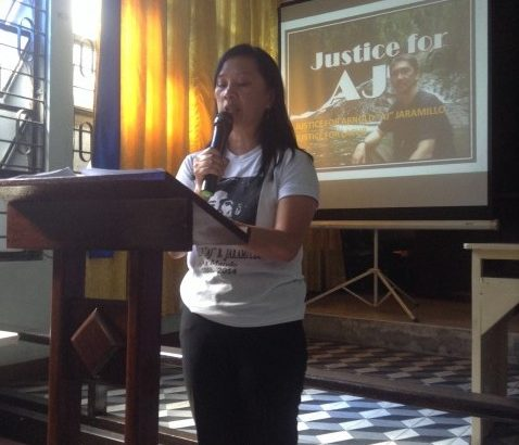 Testimony for UCCP for Del Salvador, Justice for AJ, Justice for Lacub Campaign