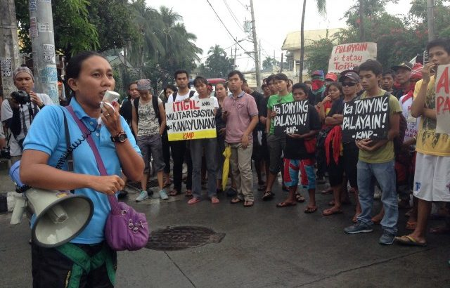 Manilakbayan | Peasant leader arrested in Times street protest