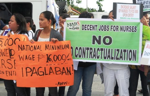 Government, private sector workers stage walkout for 'National Minimum Wage'
