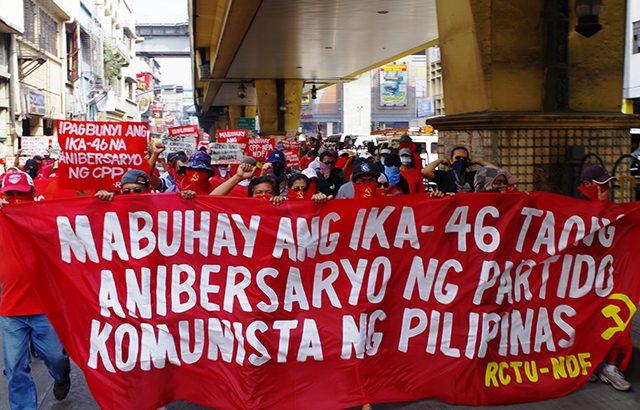 Revolutionary groups hail CPP's 46th anniversary