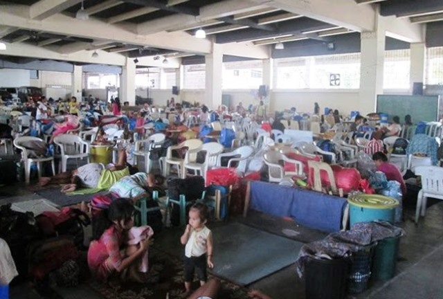 Evacuation center in Leyte Normal University  (Photo courtesy of People Surge, Dec 6, 2014)