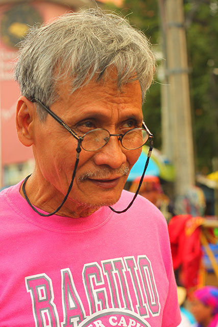 Teodoro Villafuerte calls on the government to  pay attention to the claimants as they are getting older. (Photo by Ronalyn V. Olea / Bulatlat.com)