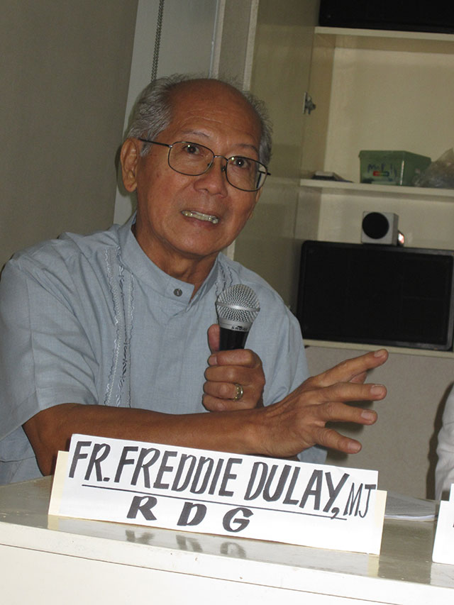 """Fr. Freddie Dulay: """"It is time that the poor speak for themselves."""" (Photo by Ronalyn V. Olea / Bulatlat.com)"""