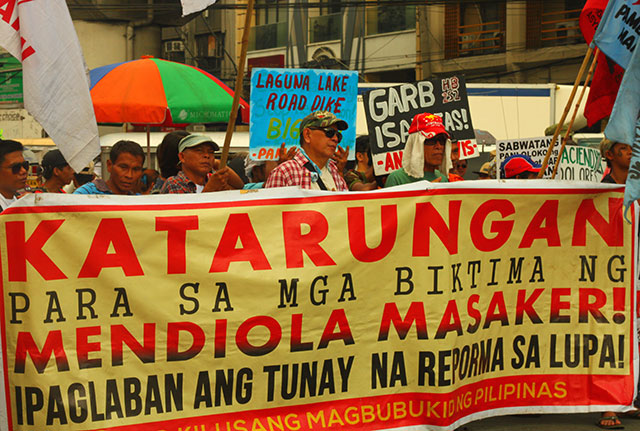 28 year after, farmers still call for justice for the victims of the Mendiola massacre. (Photo by Ronalyn V. Olea/ Bulatlat.com)