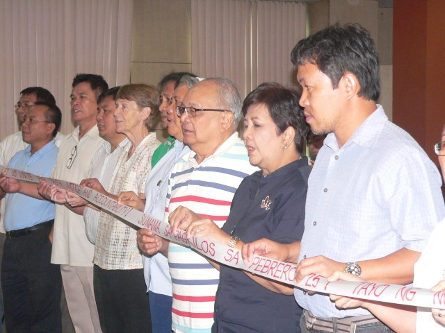 Luz Ilagan NCCP leaders Sister Pat