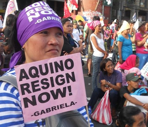 OFWs and kin call for Aquino resignation
