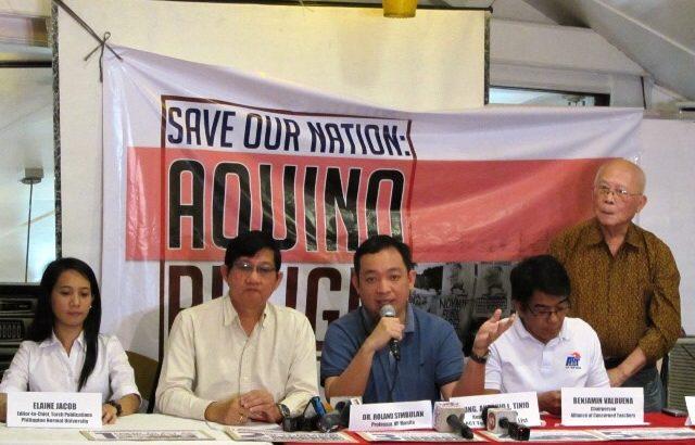 'Save Our nation: Resign Aquino Movement' launches signature campaign