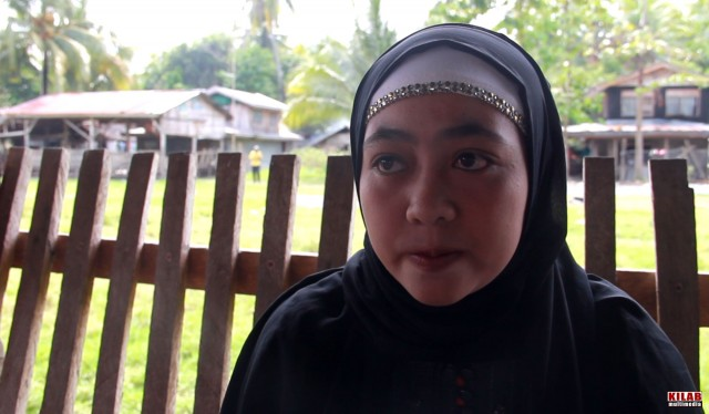 Rohaima Angkay, widow of MILF fighter slain in Mamasapano (Contributed photo by Kilab Multimedia)