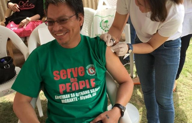 OFWs in Riyadh give free vaccinations vs spread of MERs-Corona Virus