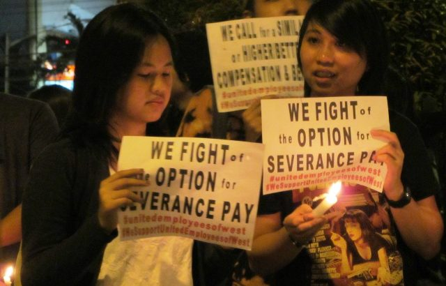 BPO employees stage candle lighting for job security, benefits amid takeover of company