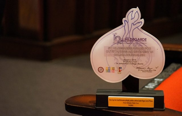 Bulatlat.com cited anew in Hildegarde Award