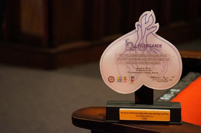 Bulatlat.com cited anew in Hildegarde Award